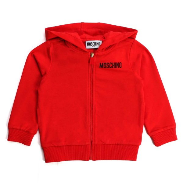Moschino - UNISEX RED HOODIE FOR BABY