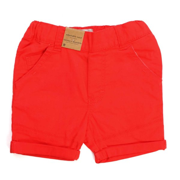 Timberland - RED SHORTS FOR BABY BOYS