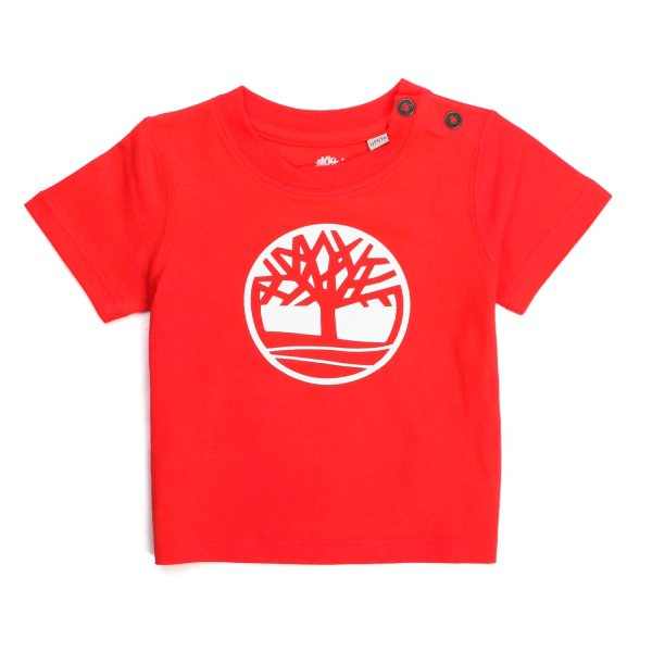 Timberland - RED LOGO T-SHIRT FOR BABY
