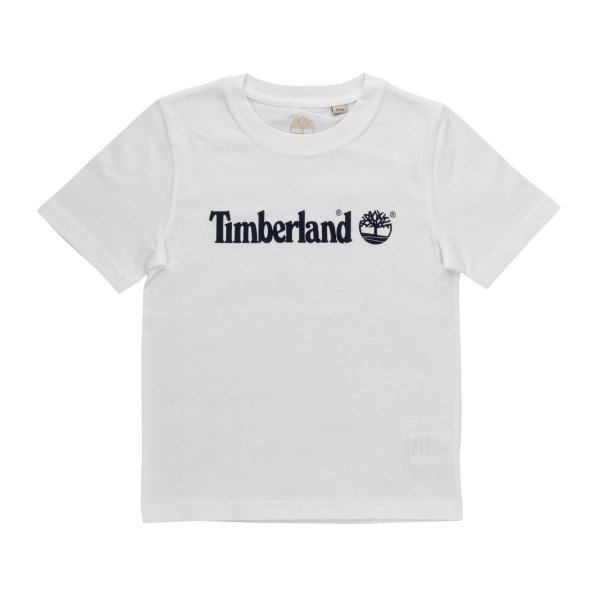 Timberland - BOY WHITE LOGO T-SHIRT 01