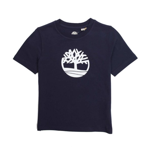 Timberland - DARK BLUE T-SHIRT WITH PRINT FOR CHILDREN AND TEEN