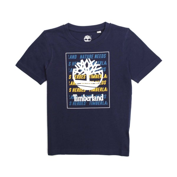 Timberland - BLUE T-SHIRT FOR CHILDREN AND TEEN