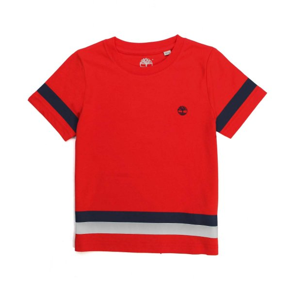 Timberland - RED COTTON T-SHIRT FOR BOY AND TEEN