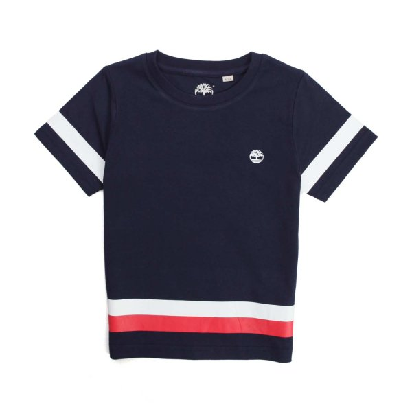 Timberland - BLUE COTTON T-SHIRT FOR BOY 02