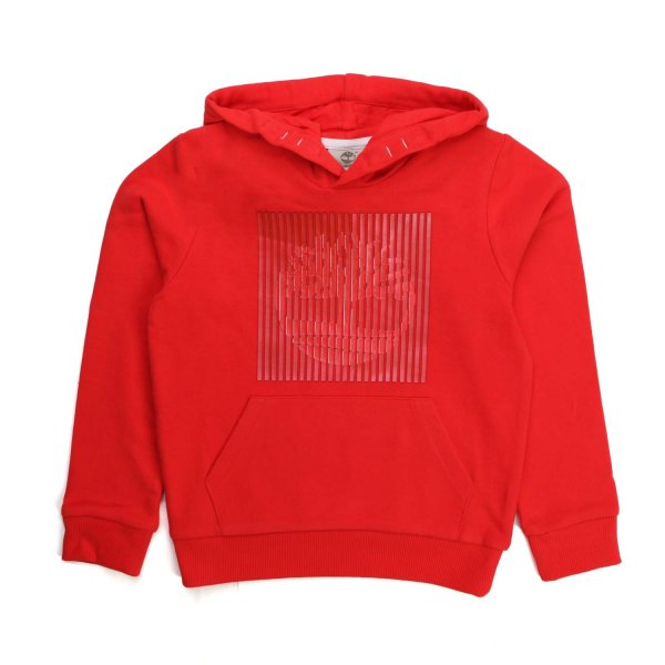 Timberland - RED HOODED SWEATSHIRT FOR CHILDREN AND TEEN