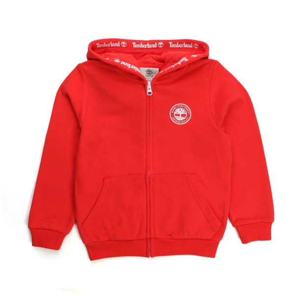 Timberland - ZIP UP RED HOODIE FOR BOY