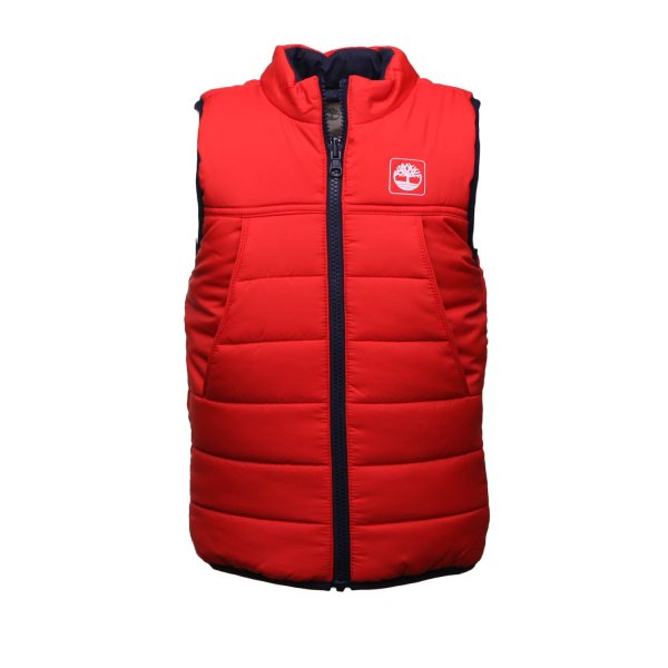 Timberland - RED SLEEVELESS JACKET FOR CHILDREN AND TEEN