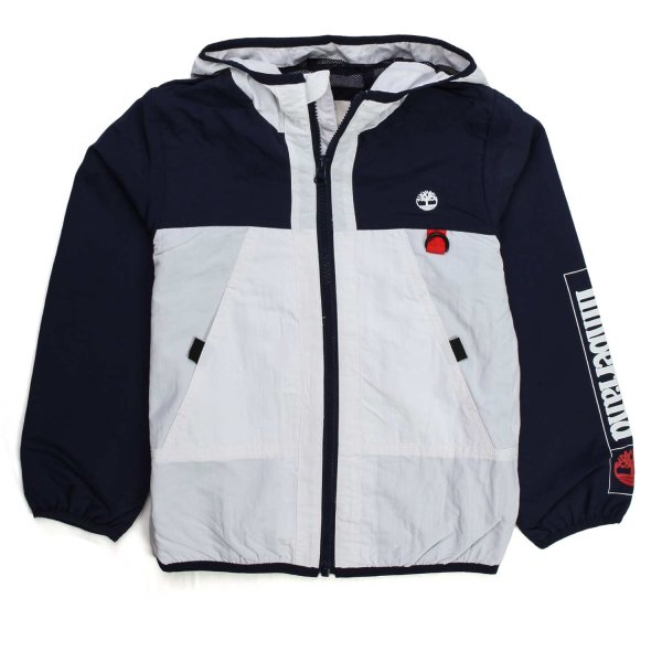 Timberland - WHITE AND BLUE JACKET FOR BOY