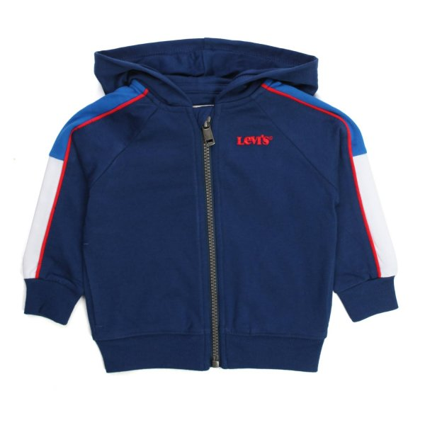 Levi's - BLUE HOODED SWEATSHIRT FOR BABY AND CHILD