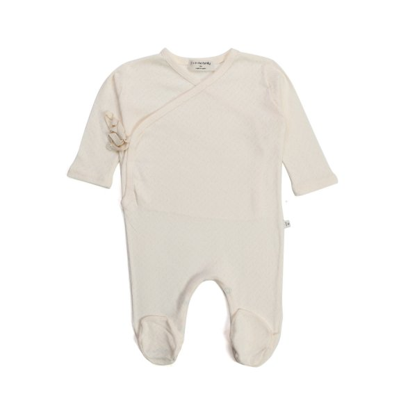 One More In The Family - BEIGE JUMPSUIT IN ORGANIC COTTON FOR BABY GIRL