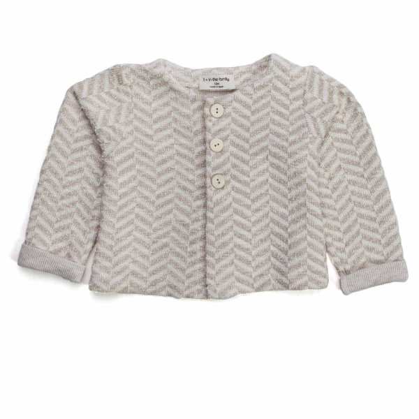 One More In The Family - BABY GIRL BEIGE CARDIGAN