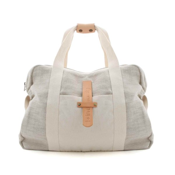 One More In The Family - BEIGE COTTON MOMMY BAG