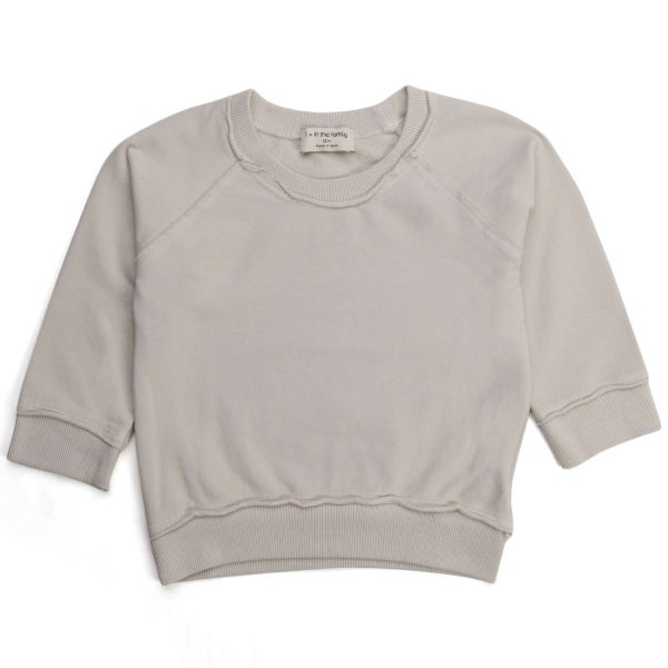 One More In The Family - BABY BEIGE COTTON SWEATSHIRT