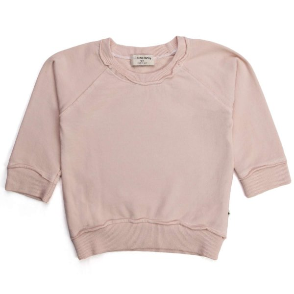One More In The Family - BABY GIRL PINK COTTON SWEATSHIRT