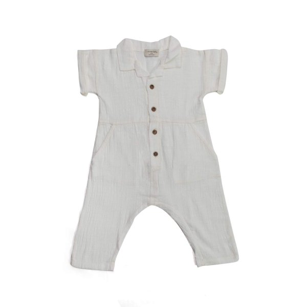 One More In The Family - COTTON OVERALLS FOR BABY GIRL