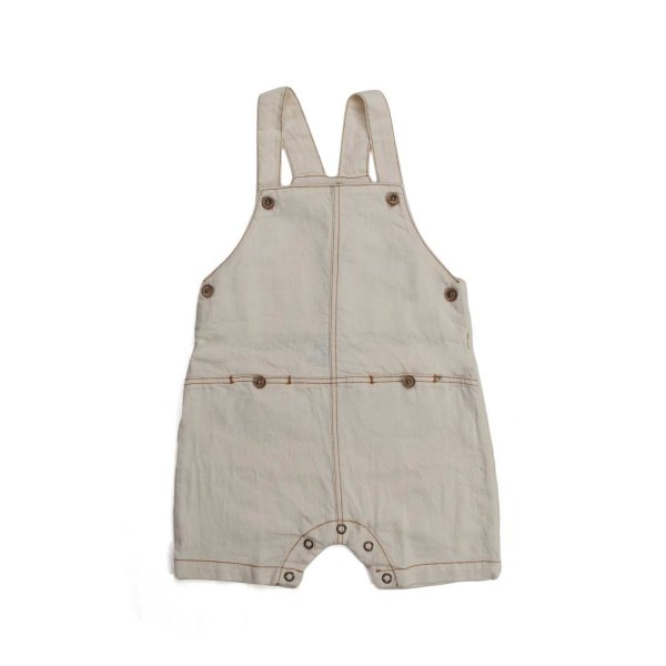 One More In The Family - BEIGE DUNGAREES FOR BABY