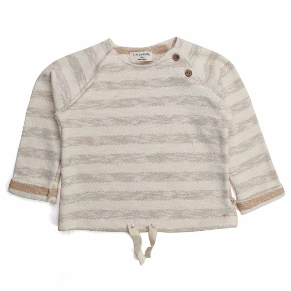 One More In The Family - BEIGE SWEATER FOR BABY