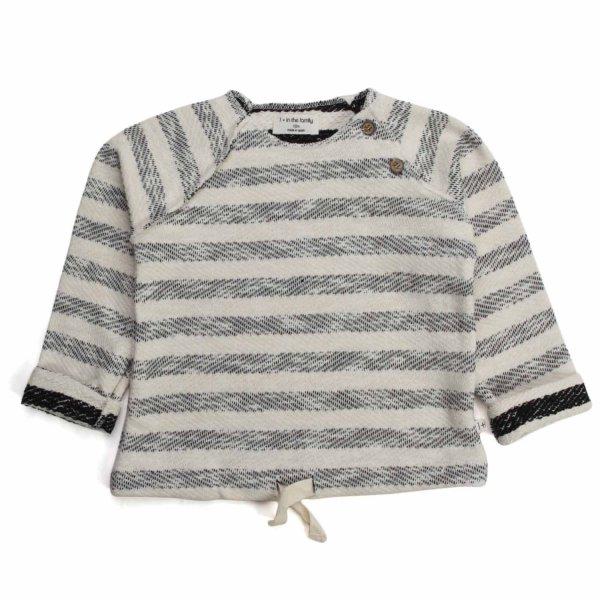 One More In The Family - BABY STRIPED SWEATER