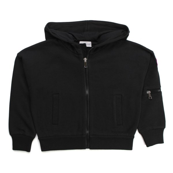 Moncler - BLACK ZIP UP HOODIE FOR GIRL AND TEEN
