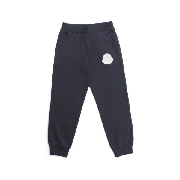 Moncler - UNISEX BLUE COTTON SWEATPANTS