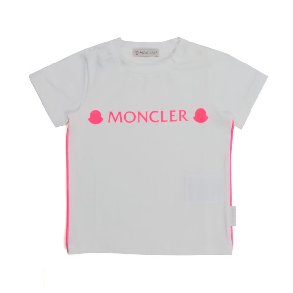 Moncler - LOGO WHITE T-SHIRT FOR BABY GIRLS