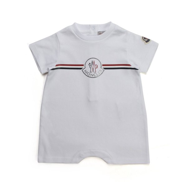 Moncler - UNISEX COTTON ROMPER FOR BABY