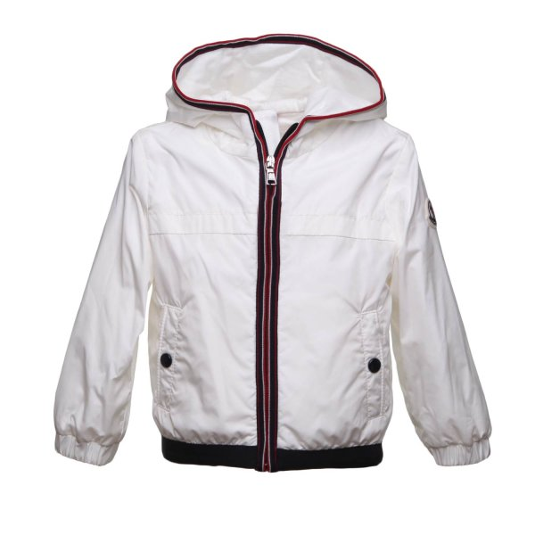 Moncler - WHITE DOWN JACKET FOR BABY BOY