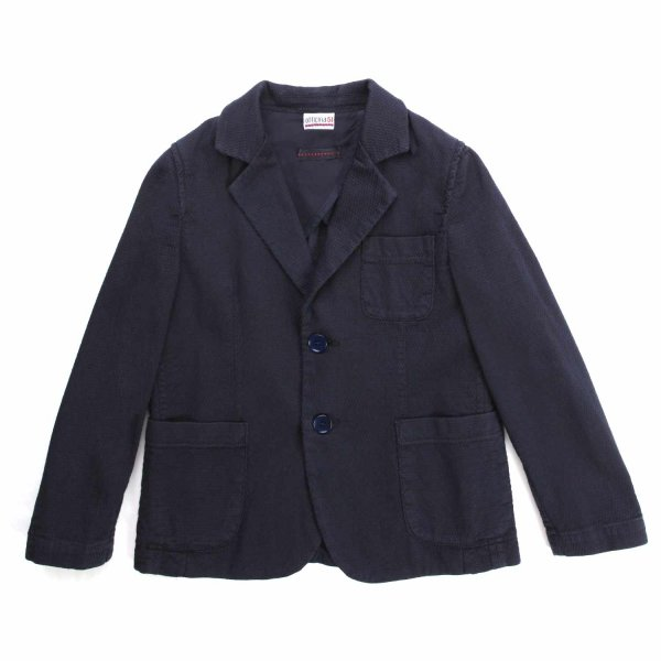 Officina51 - BLUE SINGLE-BREASTED JACKET FOR BABY AND CHILD