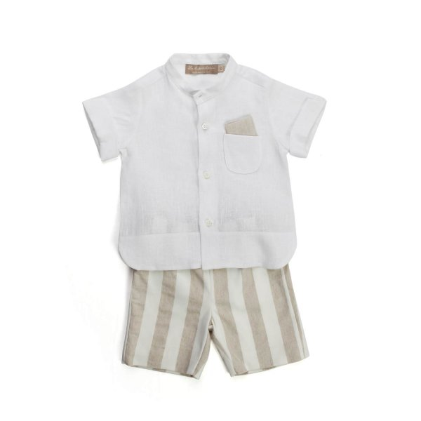 La Stupenderia - LINEN OUTFIT FOR BABY BOY