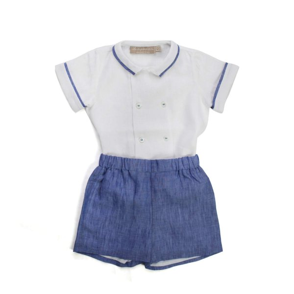 La Stupenderia - BABY BOY LINEN OUTFIT