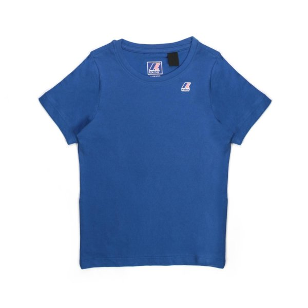K-Way - BLUE COTTON T-SHIRT FOR TEEN AND BOY