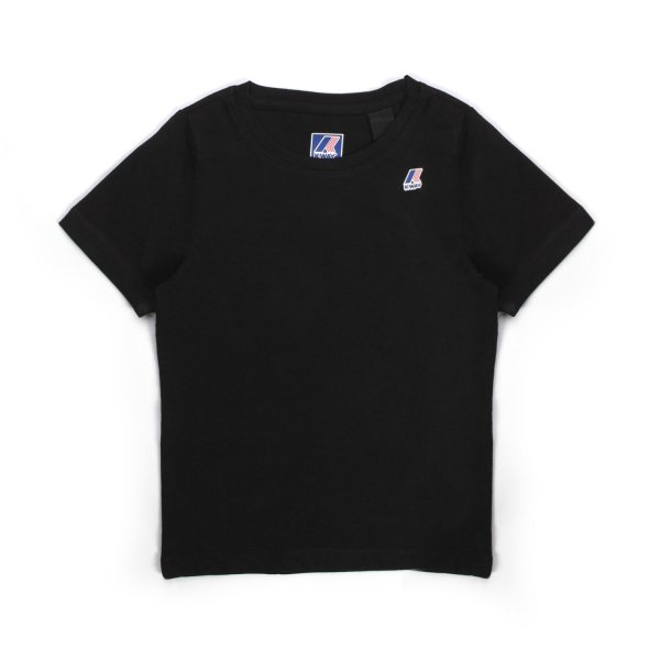 K-Way - UNISEX BLACK T-SHIRT WITH LOGO PATCH