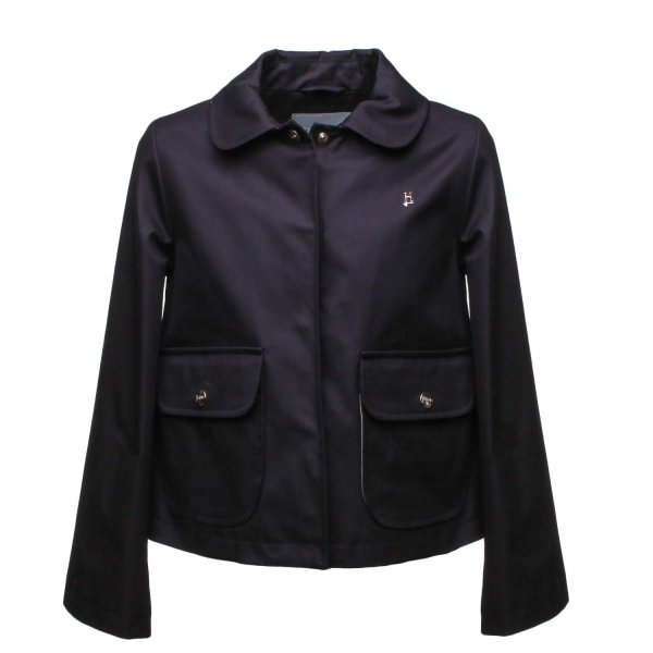 Herno - DARK BLUE JACKET FOR GIRL AND TEEN