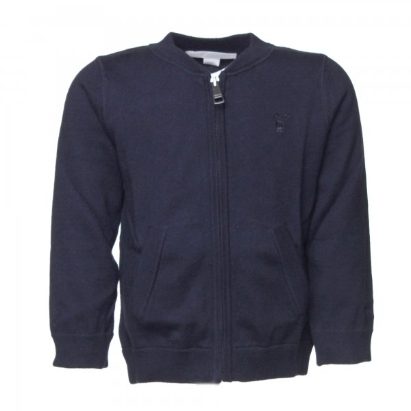 Burberry - Cardigan bimbo in cotone blu navy