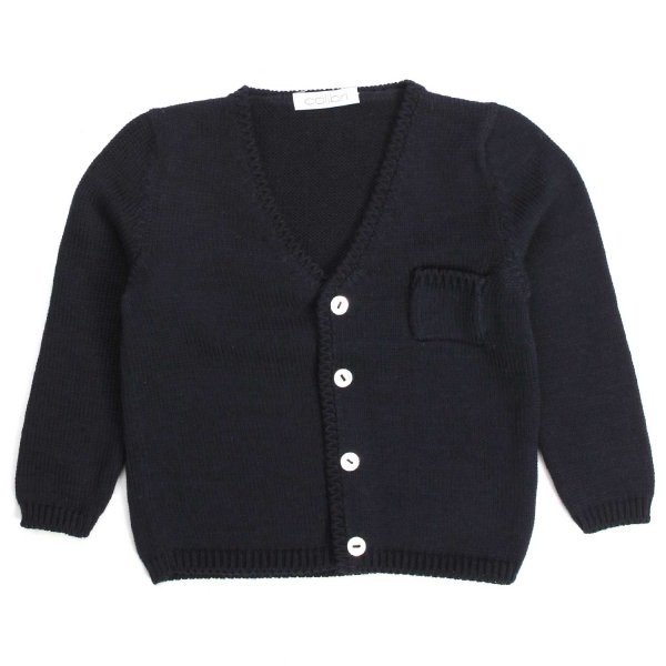 Colibri - Navy Blue Cardigan With Cotton Pocket