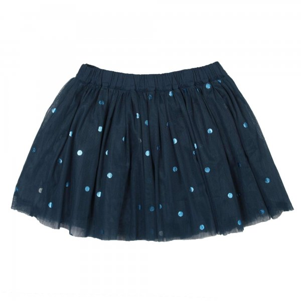 Stella Mccartney - GONNA BAMBINA IN TULLE BLU SAILOR