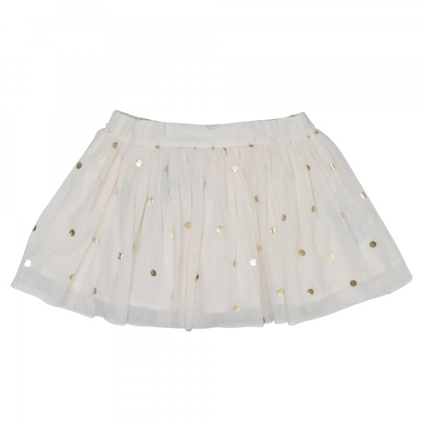 Stella Mccartney - GONNA BAMBINA IN TULLE BIANCO LATTE