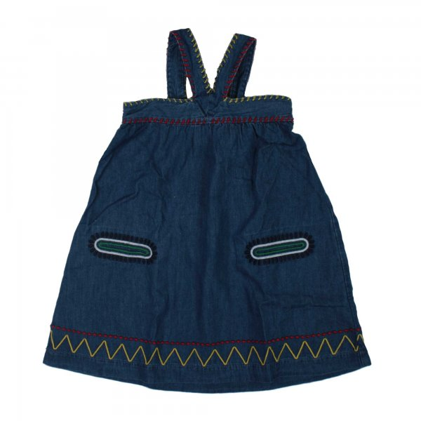 Stella Mccartney - Abito salopette Ambrose Bambina in denim