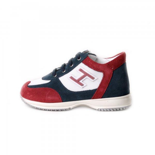 Sneakers Bebè Interactive Blu Bianca E Rossa