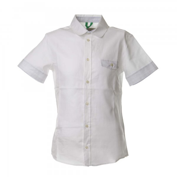 Myths - Camicia manica corta bianca in jersey