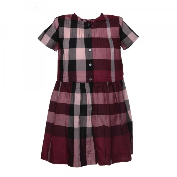 Burberry - Abito check berrypink