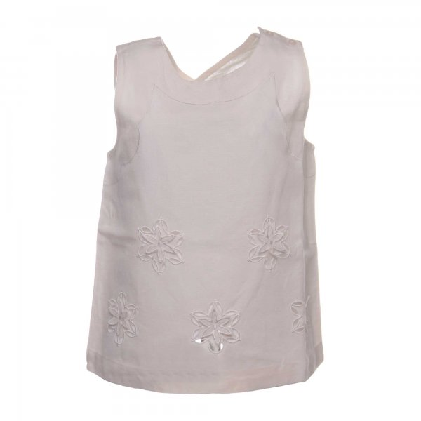 Stella Mccartney - TOP 'KOO' BAMBINA E TEENAGER BIANCO LATTE