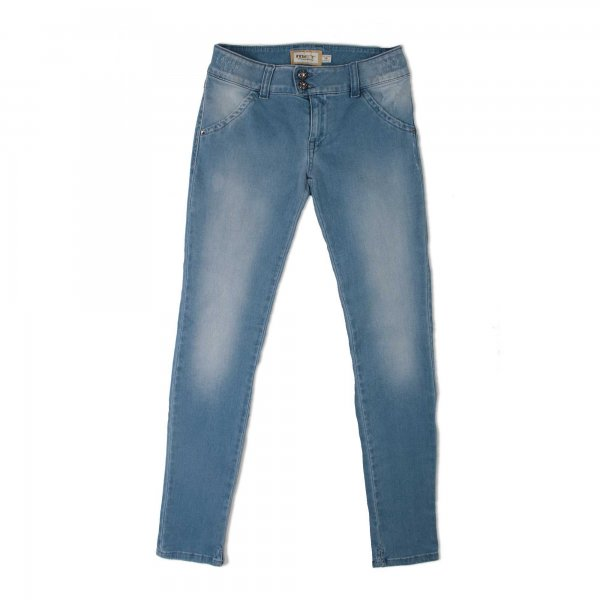 Met - JEANS GIRL INDACO CON APPLICAZIONI STRASS