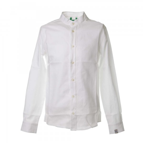 Myths - Camicia coreana bianca in jersey