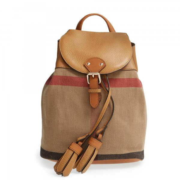 Burberry - ZAINO CANVAS GIRL CON MOTIVO CHECK