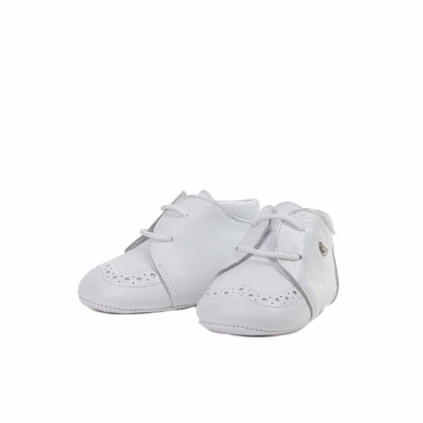 Armani Junior - Mocassino bebè in pelle bianco