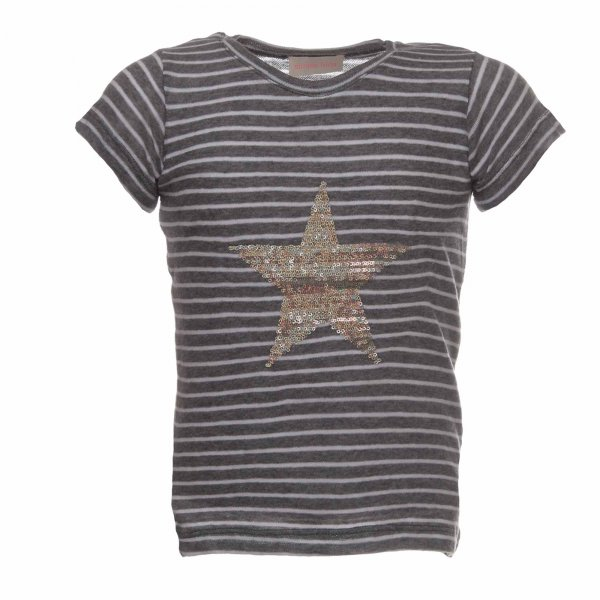 Simple Kids - T Shirt bambina Star Girl a righe con stella