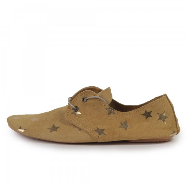 Exclusive Anniel Girl soft shoe in ocher color - annameglio.com shop online