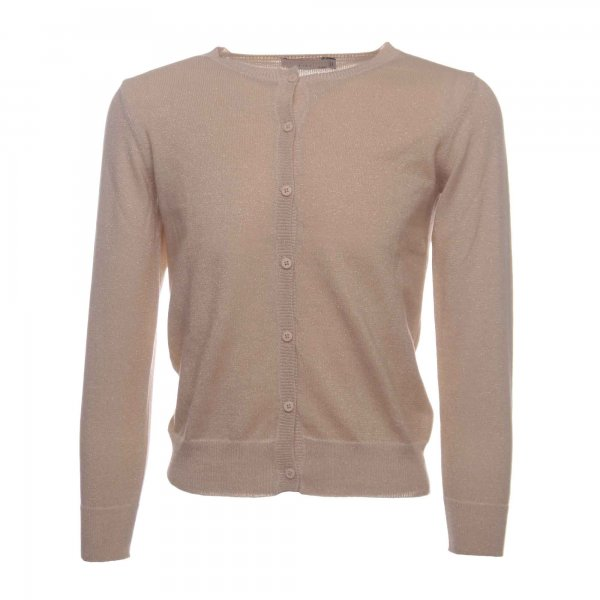Stella Mccartney - CARDIGAN 'MILLA' BEIGE CON FINITURE LUREX