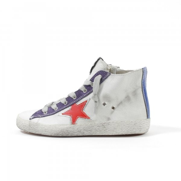 Golden Goose - SNEAKERS FRANCY IN NAPPA BIANCHE JUNIOR